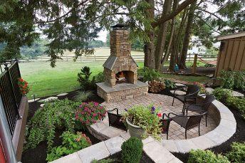 Garden Excellent Rustic Patio Design