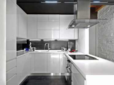 classic gray and white kitchen