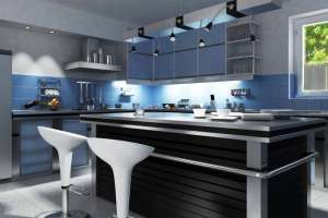 futuristic grey kitchen offering simple beauty