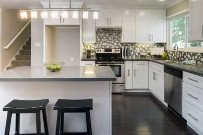 luxurious grey kitchen