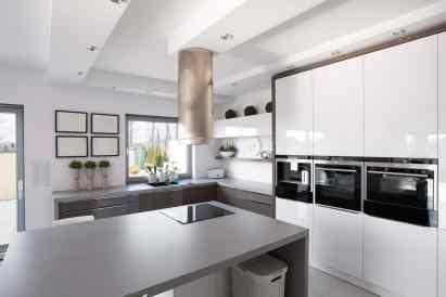 stylish grey kitchen