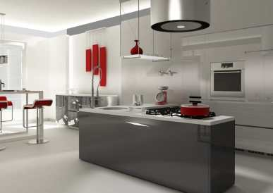 cutting-edge grey kitchen