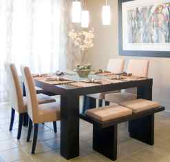 kitchen bench seating which you can tuck under the table anytime