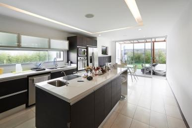 modern kitchen with an inviting ambiance