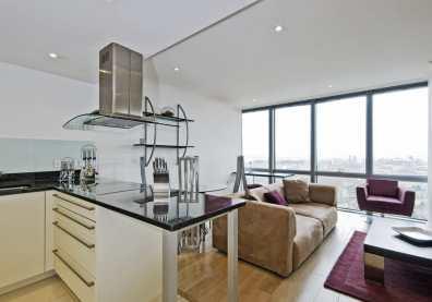 brilliant open plan kitchen leading to modern lounge