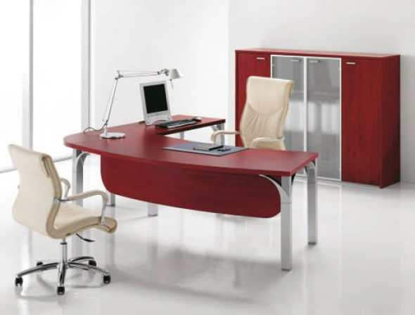 Palm Executive Shaped Desk By DV Office - Modern - Desks & Writing ..