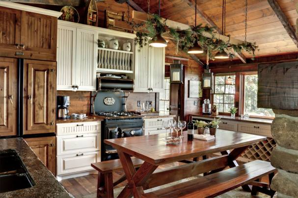 country style coziness of a rustic kitchen design