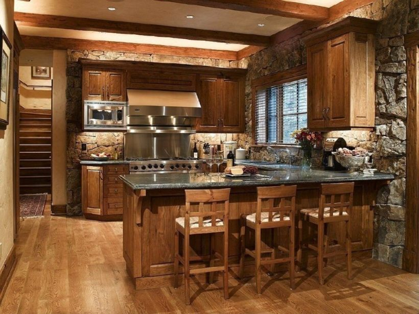 rustic kitchen reflecting a hint of tradition
