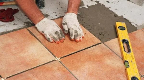 floor tile installation drying time