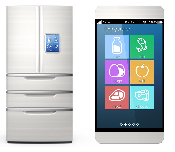smart fridge that creates a shopping list