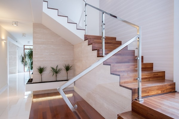 2020 Glass Deck Stair Railing Costs Per Foot Homeadvisor | Custom Handrails Near Me | Wood | Balcony | Deck Railing | Powder Coating | Steel
