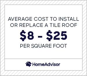 2021 cost of a tile roof clay