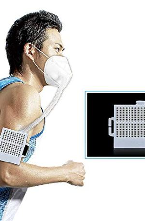 Rechargeable Electrical Air Purifying Respirator, Reusable 3 Speeds Fan Modes Air Purifier with HEPA Filter for Outdoor…