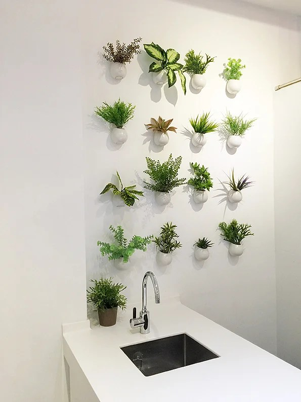 10 ways to liven up your home with artificial greenery ... on Wall Sconces For Greenery Decoration id=94540