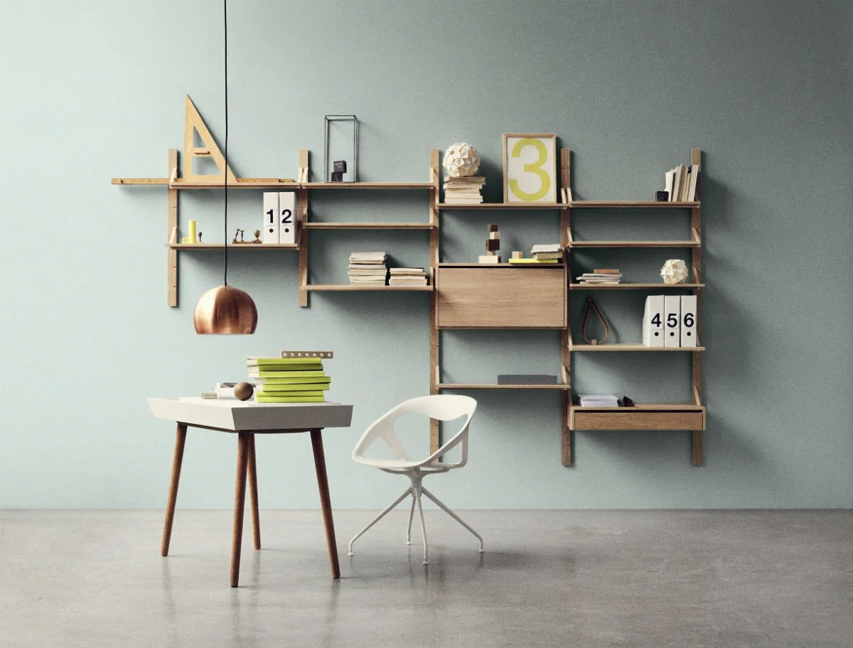 Wall Mounted Racks Desks And Shelves That Save Space And