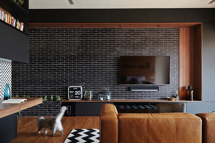 Living Room Design Ideas 7 Brick Walls In Stylish Spaces Home Amp Decor Singapore