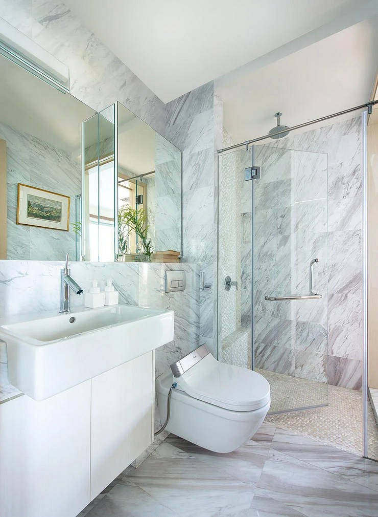 10 fresh all-white design ideas for small bathrooms | Home ... on White Bathroom Design Ideas  id=94692