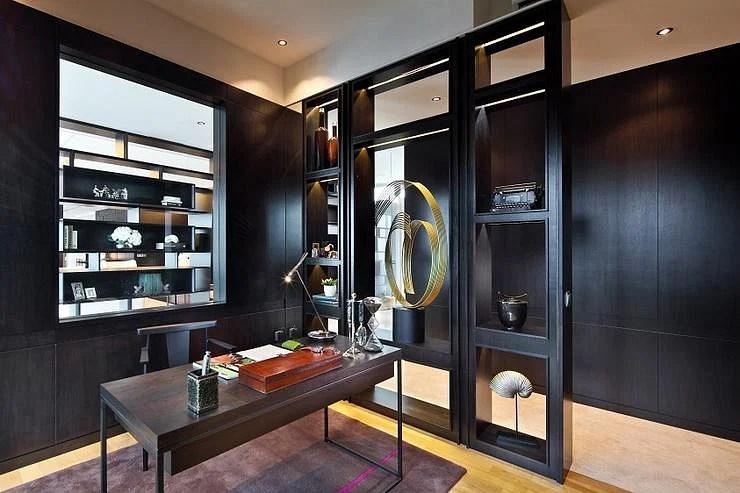 Contemporary Elegant Condominium Unit With Dark Walls