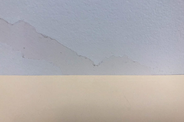Flat surface to confirm level drywall repair