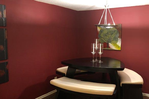 Interior design ideas dining room accent walls