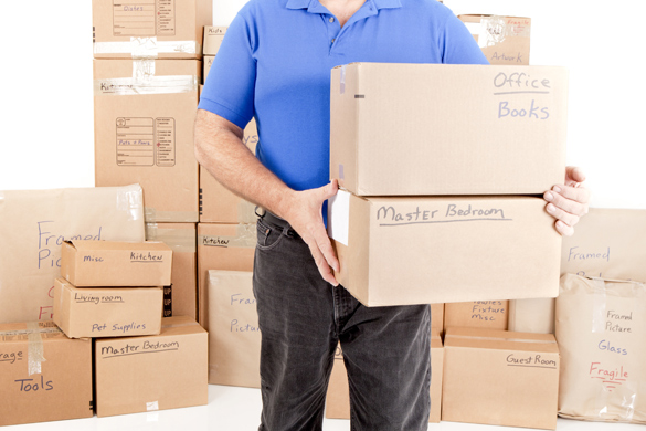 Moving labeled boxes