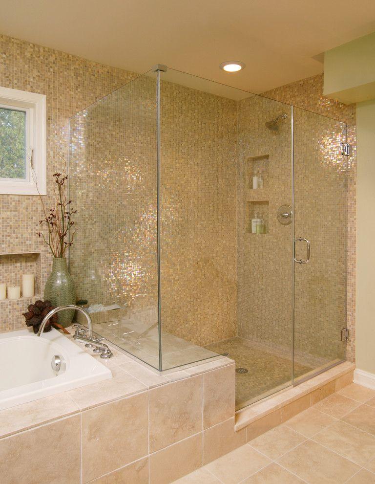 shower bench and modern bathroom