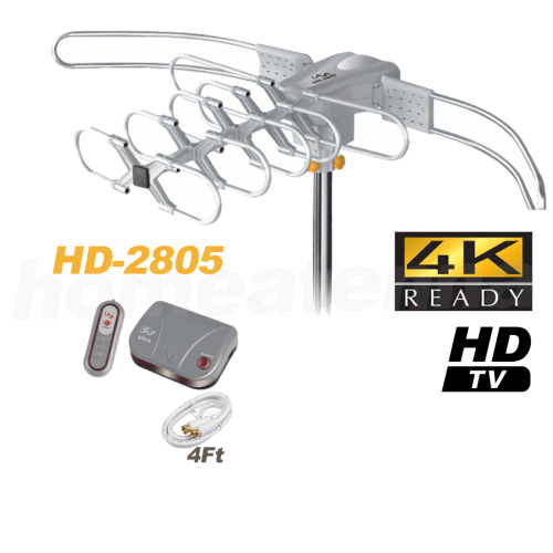 LAVA HD2805 Ultra Outdoor HDTV Antenna with G3 Control Box-0