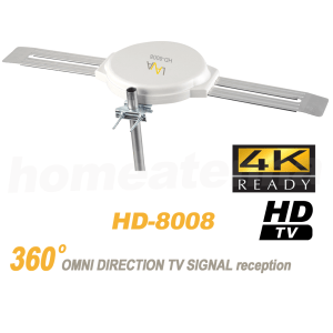 [FREE Installation Kit + Free J-pole] Top Rated 4K Omnidirectional TV Antenna OmniPro HD-8008-201
