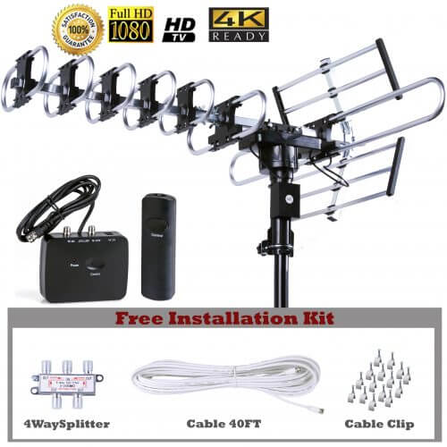 up to 200 mile outdoor antenna