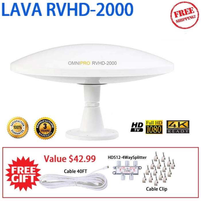 LAVA 2000 Outdoor RVHD Antenna