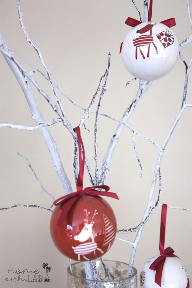 Decorar con ramas en Navidad