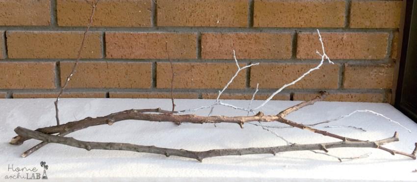 Decorar con ramas