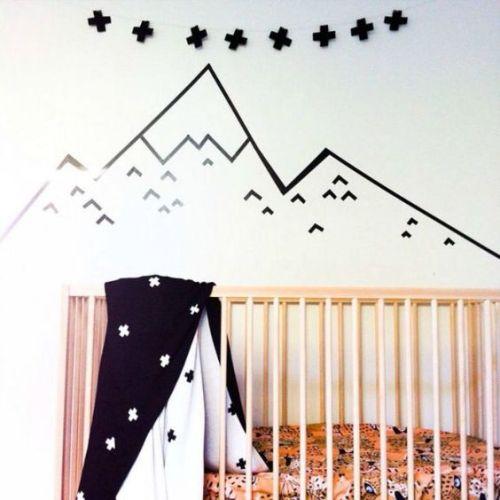 decoración pared bebe