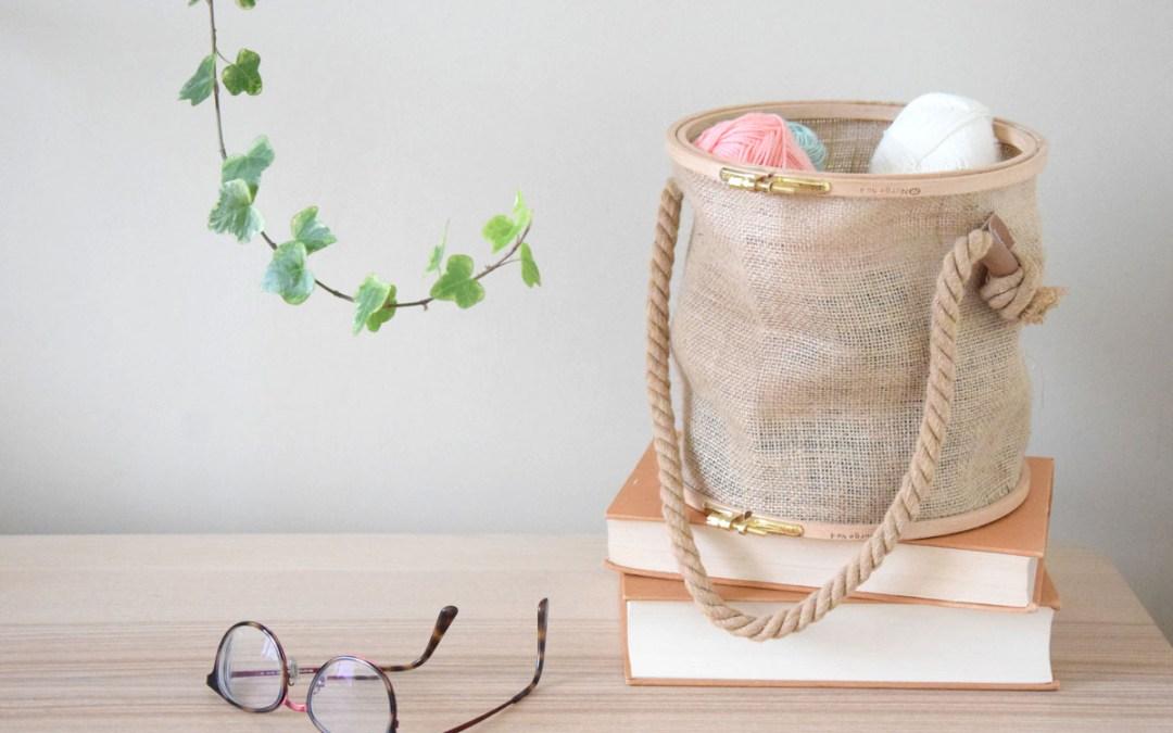 COMO HACER UNA CESTA DE COSTURA CON BASTIDORES Un DIY fácil apto para torpes para hacer un cesto decorativo multiusos