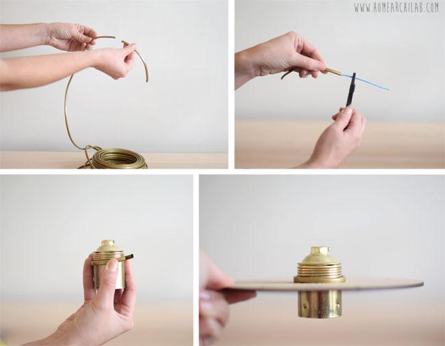 como hacer una lampara de techo