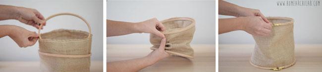 como hacer una cesta