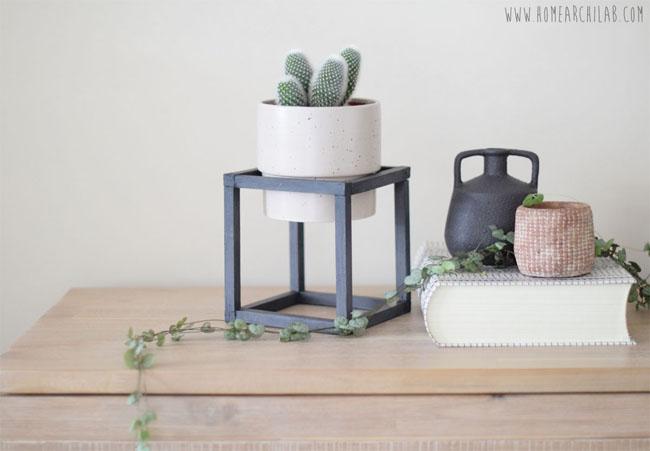 Diy soporte para plantas en forma de cubo home archilab - Soportes para macetas ...