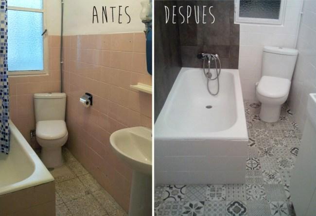 reforma sin obras de un baño
