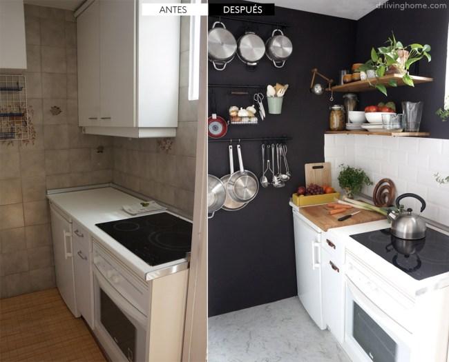 antes y después piso de alquiler