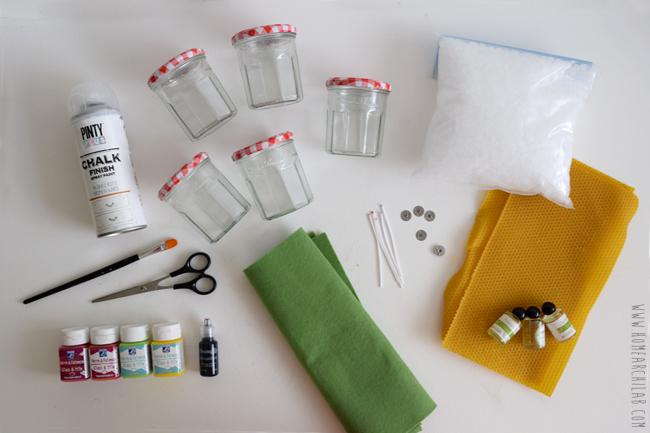 materiales para hacer velas caseras