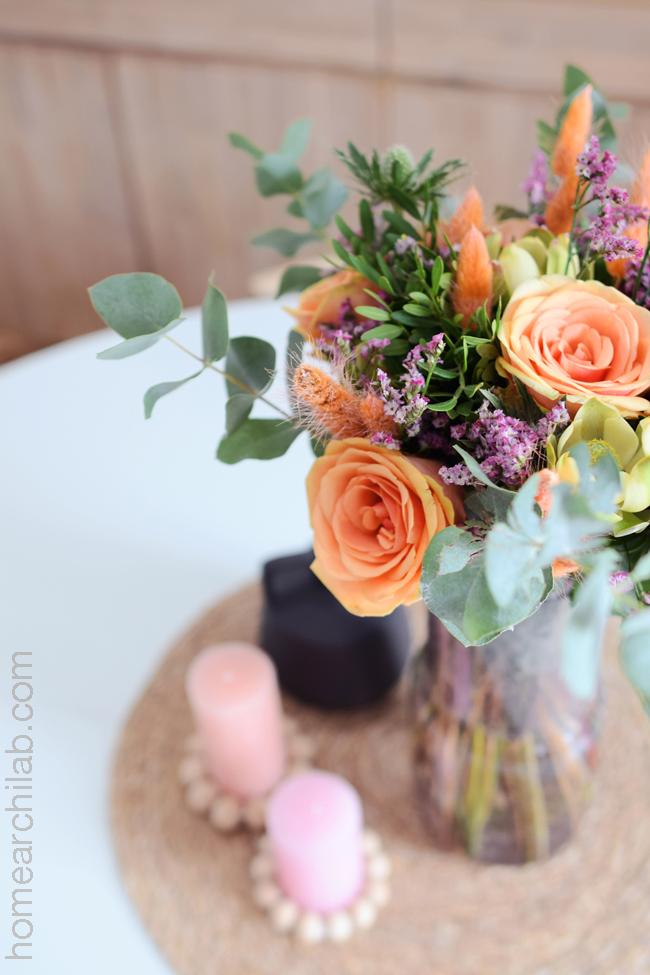 flores y plantas en casa