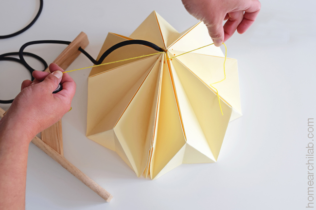 lámpara de origami DIY de pared