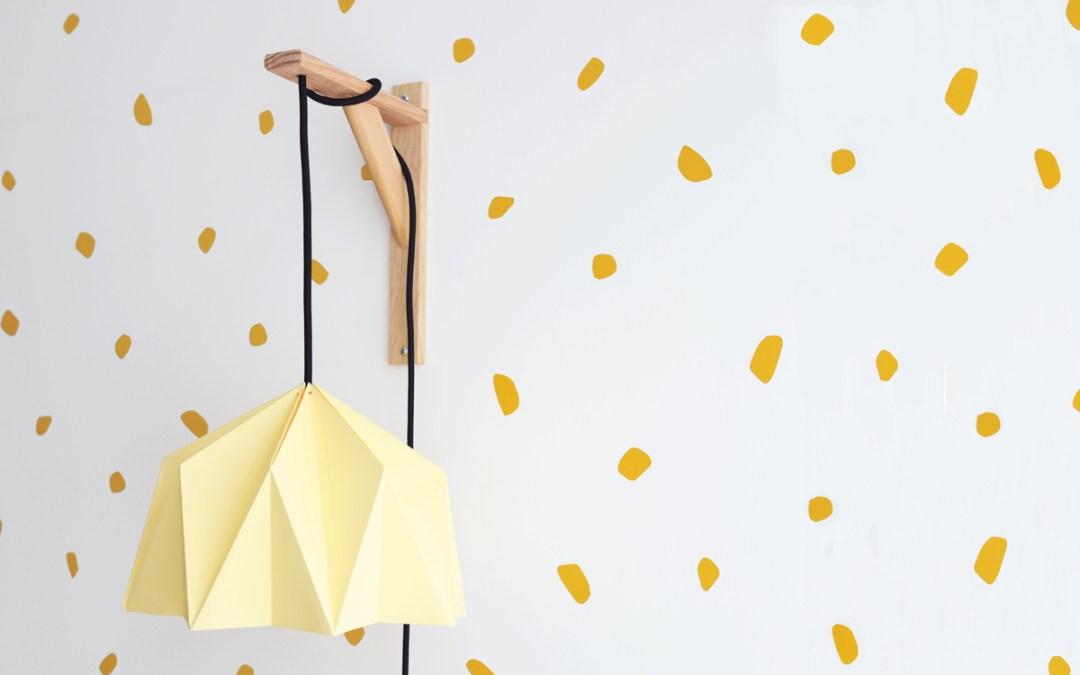 LAMPARA DE ORIGAMI DIY Tutorial para hacer una lámpara de pared de Origami
