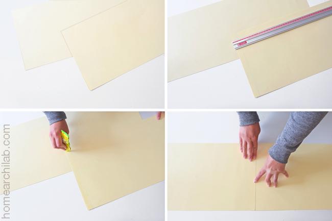 lámpara de origami de papel DIY