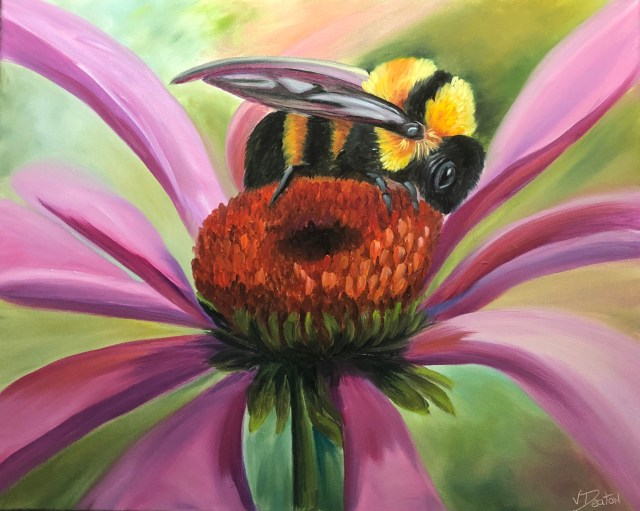Busy Bee Oil Painting Tutorial