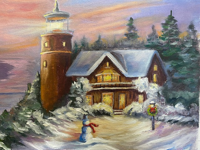 Christmas Magic – Oil Painting Tutorial