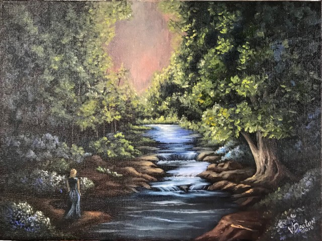 Forest Garden Oil Painting Tutorial