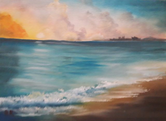 Seascape – Sunset (Oils)