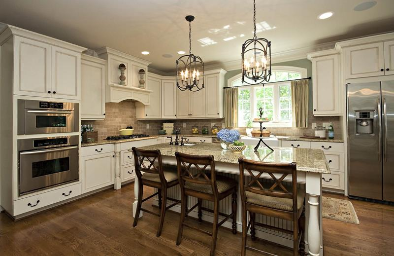 L Shaped Kitchen With Island Design Ideas
