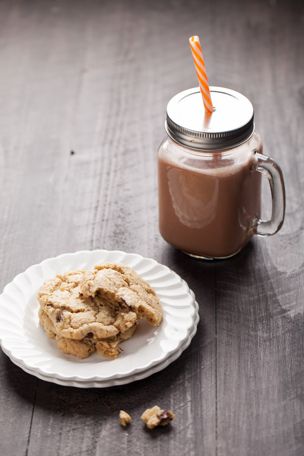 Chocolate Chip Oatmeal Cookies with Mexican Hot Chocolate